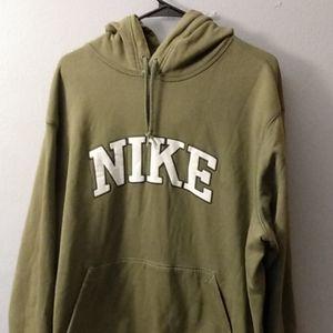 Nike Green and White Hoodie